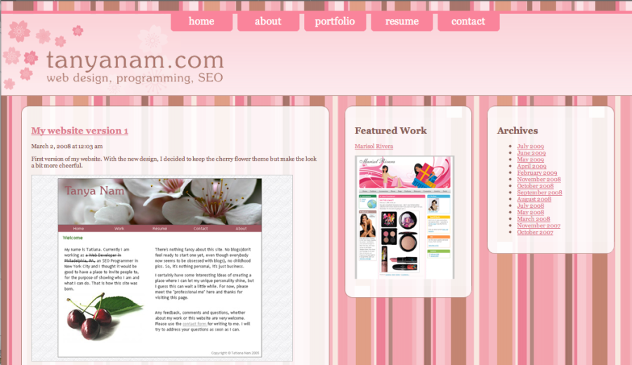 My website, version 2